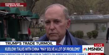 Larry Kudlow: 'Blame China' Not Trump
