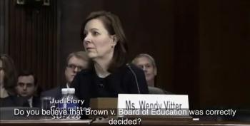 Wendy Vitter Can't Say Whether Brown V. Board Of Education Was A Correct Decision