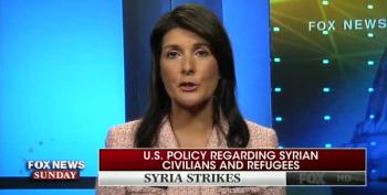 UN Amb. Nikki Haley Says Syrian Refugees Don't Want To Come To The U.S.