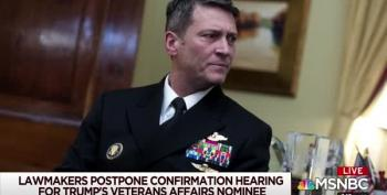 Day Drinker? Hearings Delayed For Dr. Ronny Jackson's VA Nomination