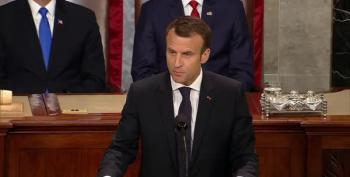 Macron's Speech To Congress Smacks Trump Isolationism