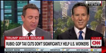 Santorum Forced To Admit Trump's A Habitual Liar