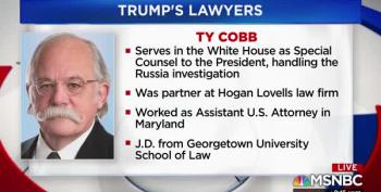 Trump's Lawyer-Go-Round - Ty Cobb Out