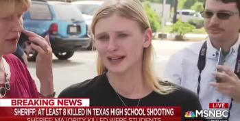 Santa Fe Student Cries Recalling Today's Shooting