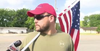 Open-Carrying MAGA Flag-Waver Shows Up At Santa Fe High School After Shooting