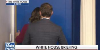 Sarah Sanders Runs Away From Reporters' Questions About Trump's Insults