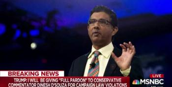 Alt-Right Felon Dinesh D'Souza Pardoned By Trump