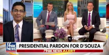 Dinesh 'The Felon' D'Souza Crows On Fox And Friends Taking No Responsibility For His Actions
