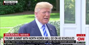 Trump Lies To Reporters About Reading Kim Jong Un Letter