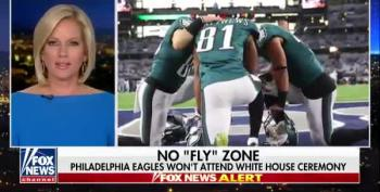 To Soothe Giant Man-Baby, Fox News Tries To Paint Eagles As Protestors (Updated)