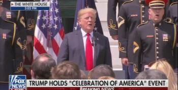 Trump Can't Remember Words To 'God Bless America' At Event To Spite Philly Eagles