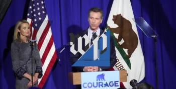 Gavin Newsom Honors Robert Kennedy In Victory Speech