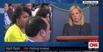 Reporter Confronts DHS Secretary: 'Are These Kids Being Used As Pawns For A Wall?'
