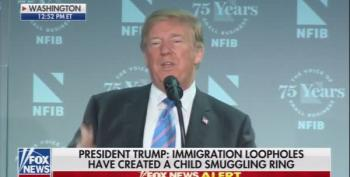 Defending His Cruel Zero-Tolerance Policy, Trump Blames Media For Helping Child Smugglers