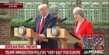 Theresa May Makes Trump Look Like The Asswipe Idiot He Is On Immigration
