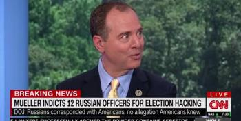 Adam Schiff Calls For Trump To Cancel Putin Meeting After 12 Russians Indicted