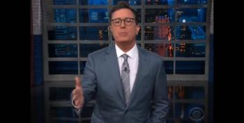 Colbert Answers Trump's Server Question: 'It's Standing Right Next To The Master'