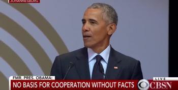 Barack Obama Delivers Nelson Mandela Address