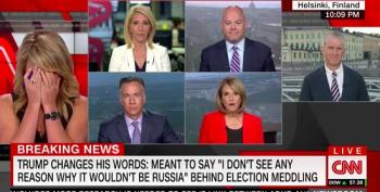 'This. Is. Ridiculous.' CNN Panel Aghast At Trump's One-Word 'Walkback'