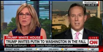 Alisyn Camerota Takes Rick Santorum To Task For His Defense Of Trump's Treason Summit With Putin