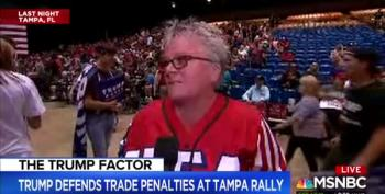 Woman At Trump Rally Says Trump Is Always Truthful