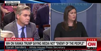 Huckabee Sanders Refuses To Affirm That  Press Is NOT The Enemy Of The People