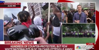 White Nationalist Protesters Outnumbered By Huge Crowds Of Counter-Protesters In D.C.