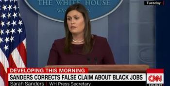 Sarah Sanders Has To Back Off After Lie About Obama's Job Numbers