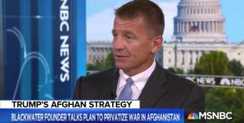 Erik Prince Pushes Plan To Privatize Afghanistan War
