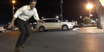 Beto O'Rourke Skateboarding In The Whataburger Parking Lot