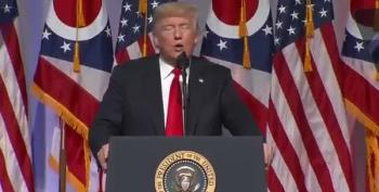 Trump Praises Gym Jordan's Wrestling Skills At Ohio GOP Dinner