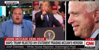 Trump Rejected White House Statement Praising McCain