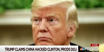Trump Says China Hacked Clinton Emails
