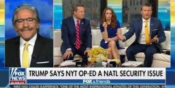 Fox Hosts Lose It When Geraldo Rivera Suggests There Is No National Security Threat From NYT Op-Ed