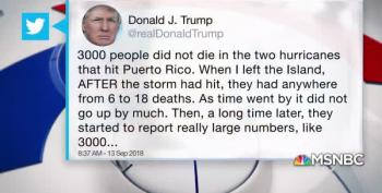 Trump's Tweets On Puerto Rican Death Toll Are Crazy And False
