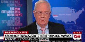 Ken Starr Covers For Accused Sexual Assaulter Again - This Time, Kavanaugh