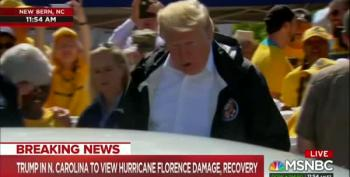 VIDEO: Trump Tells Hurricane Florence Victim To 'Have A Good Time'