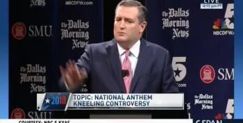 Ted Cruz Likens NFL Players Kneeling For Anthem With Flag-Burning