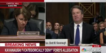 Kavanaugh Asks Sen. Klobuchar If She's Ever Been Blackout Drunk