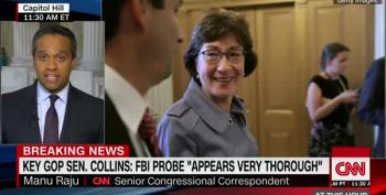Susan Collins Finds Her Figleaf; Calls FBI Investigation 'Thorough'