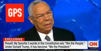 Colin Powell On Trump's Behavior: 'Me The President' As Opposed To 'We The People'