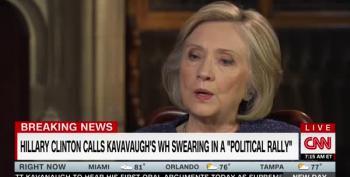 Hillary Clinton: Kavanaugh Swearing-In Was A Political Rally