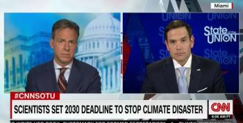 Jake Tapper Grills Marco Rubio Over Climate Change