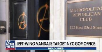 Fox & Friends Freak Out Over Vandalism Of NYC GOP Office