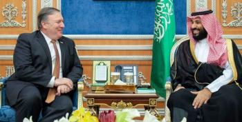 Pompeo All Smiles In Saudi Arabia
