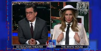 'Melania Trump' Returns To The Late Show