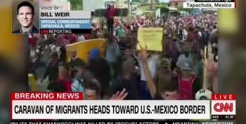 CNN Reporter Narrowly Dodges Tear Gas At Guatemala-Mexico Border