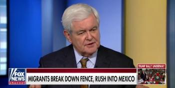 Newt Gingrich Fearmongers That Civilization Won't Withstand Migrant Caravan