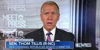 Sen. Thom Tillis Fearmongers About The 'Powder Keg' Of Debt He Helped To Create