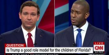 FL Gov Debate: DeSantis Dodges Question About Whether Trump Is A Good Role Model For Kids